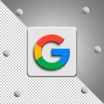 Renderowanie logo google na białym tle
