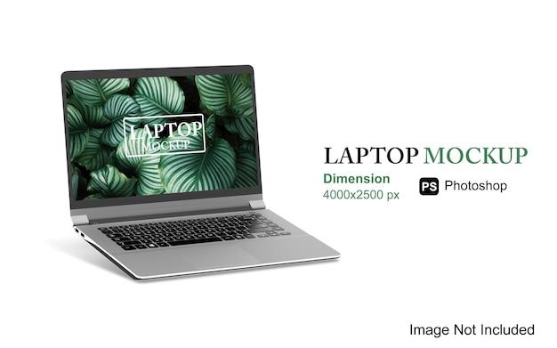 Renderowanie makiety laptopa na białym tle