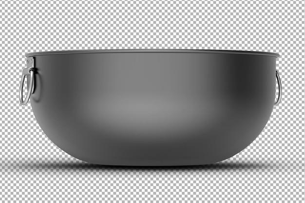 Renderowanie odizolowanych 3d metalowej miski