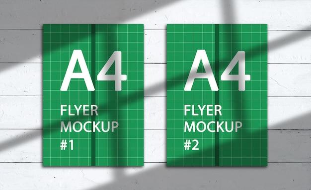 Renderowanie projektu makiety a4 flyer