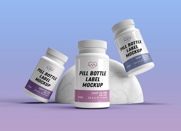 Renderowanie projektu makiety butelek pigułki