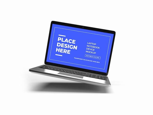 Renderowanie projektu makiety laptopa