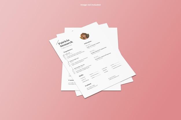 Renderowanie projektu makiety papieru a4