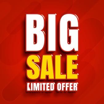 Renderowanie z ograniczoną ofertą w dużej sprzedaży