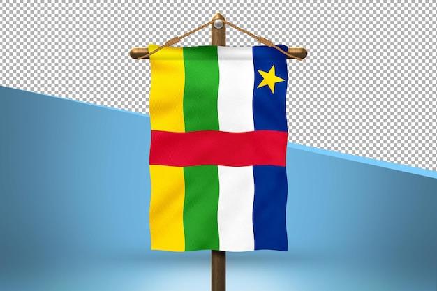 Republika środkowoafrykańska powiesić projekt flagi w tle