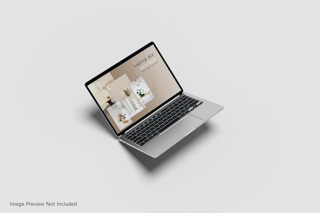 Responsywny widok izometryczny prezentacji na wielu urządzeniach na białym tle