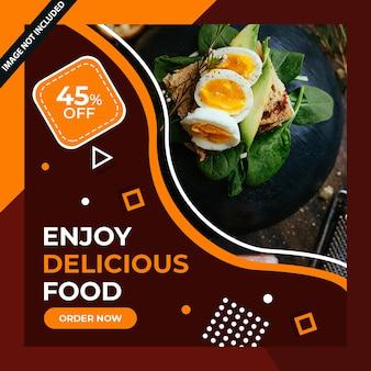 Restauracja gastronomiczna media społecznościowe post psd