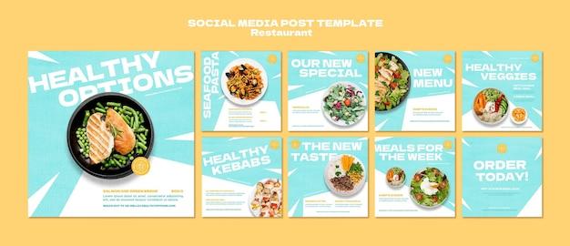 Restauracja posty w mediach społecznościowych