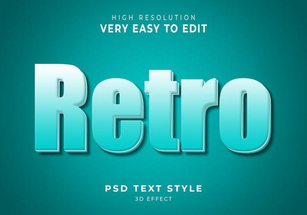 Retro 3d nowoczesny efekt tekstowy