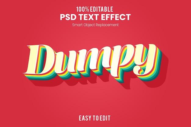 Retro efekt tekstowy 3d