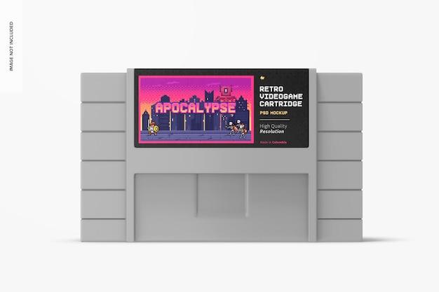 Retro makieta kasety do gier wideo, widok z przodu