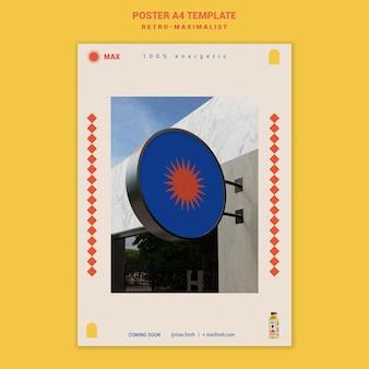 Retro-maksymalistyczny szablon plakatu