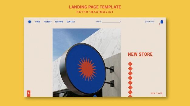 Retro-maksymalistyczny szablon strony internetowej