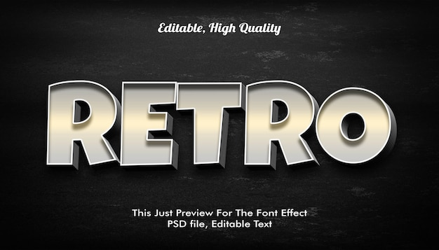 Retro styl tekstu 3d