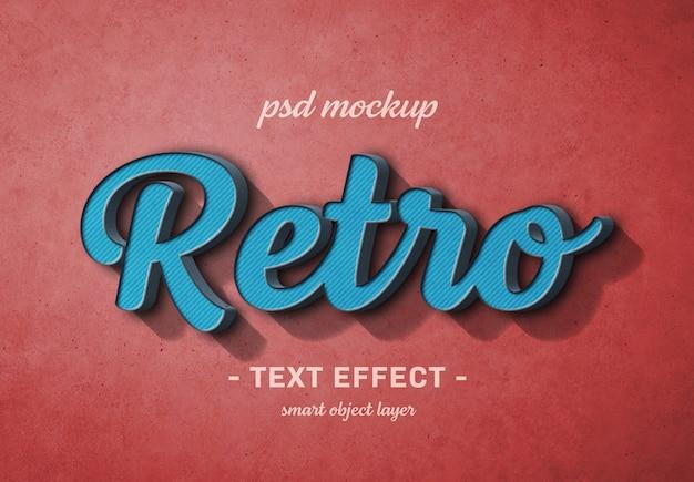 Retro tekstowy efekt 3d