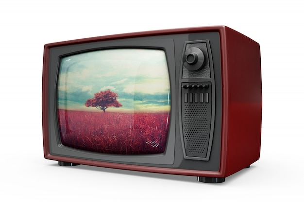 Retro tv makieta
