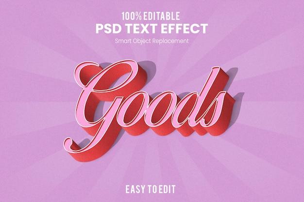 Retro vintage efekt 3d wytłaczany efekt tekstowy