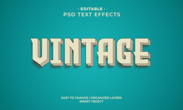 Retro vintage fajny efekt tekstowy