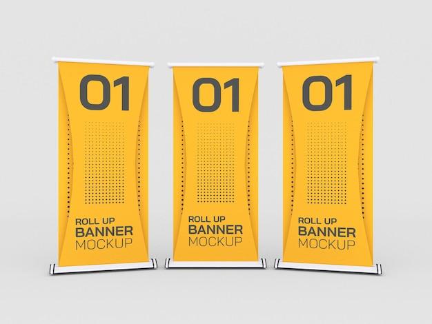 Roll up makieta banerów reklamowych