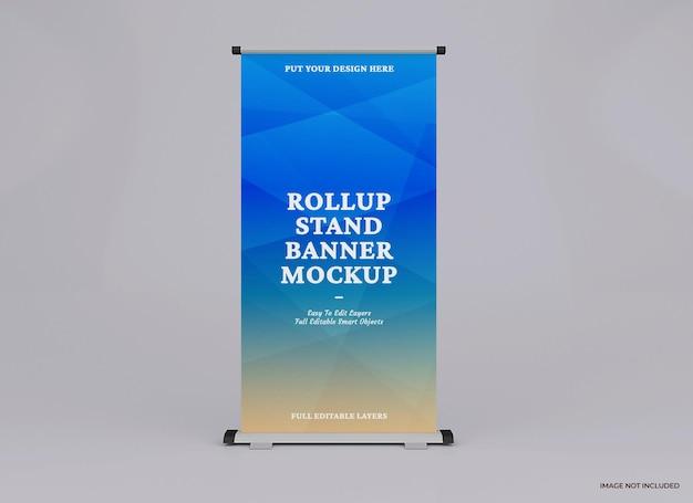 Rollup makieta projekt renderowania na białym tle