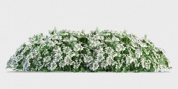 Roślin kwiat liść 3d wystrój mebli wewnątrz renderowania 3d