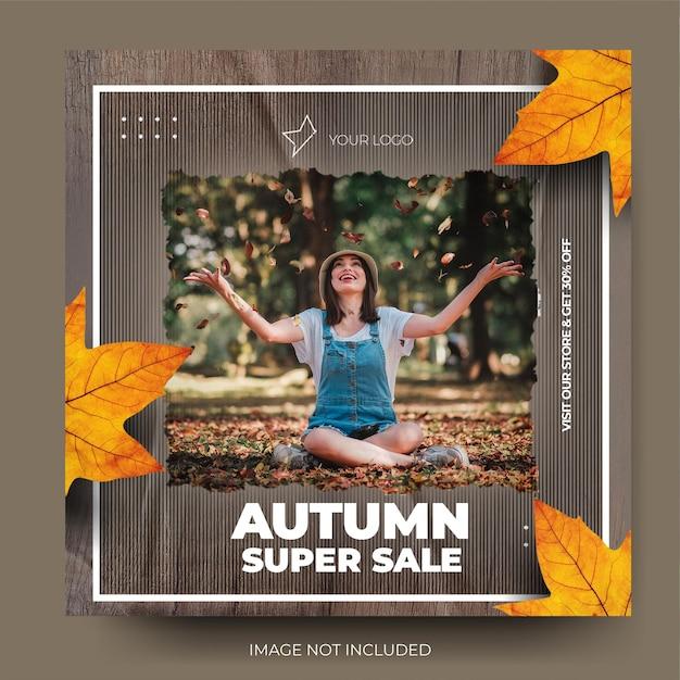 Rozdarty papier jesienna wyprzedaż mody na instagramie opłata za post w mediach społecznościowych