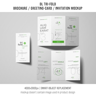 Rozdrobnione broszury lub zaproszenia makiet