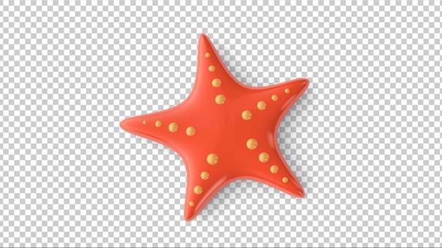 Rozgwiazda na przezroczystym tle. ilustracja 3d