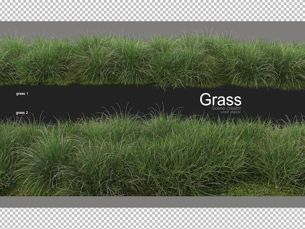 Różne formy renderowania trawy