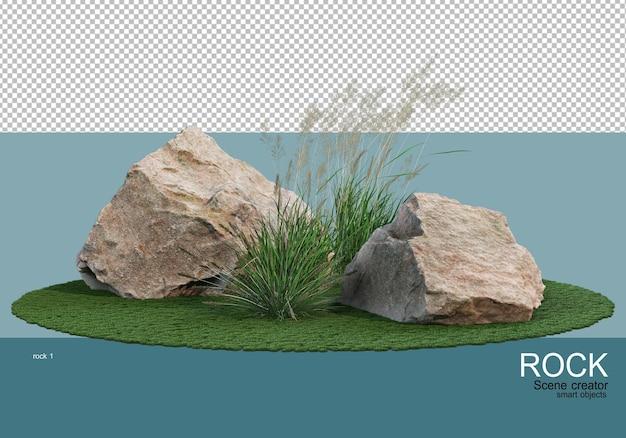Różne skały i trawy