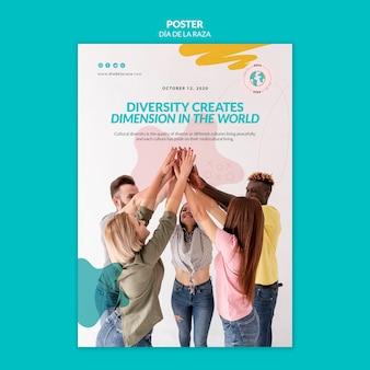 Różnorodność tworzy wymiar w światowym plakacie