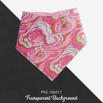 Różowa chustka wzorzysta dla dziecka lub dzieci na przezroczystym tle