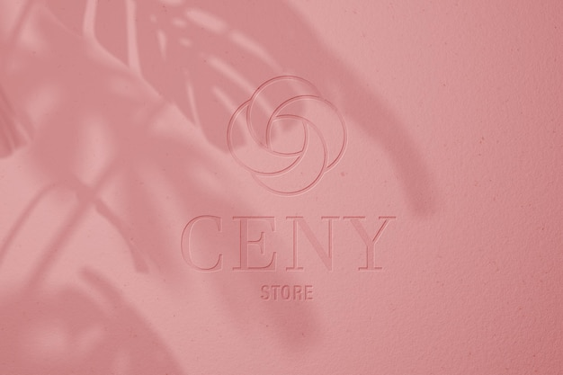 Różowa pastelowa makieta logo