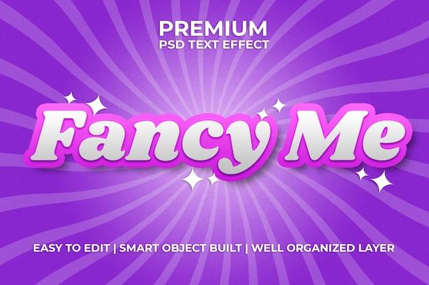 Różowy efekt tekstowy fancy me