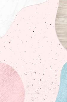 Różowy i niebieski kolaż teksturowane tło wektor