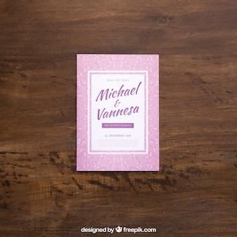 Różowy magazyn makieta