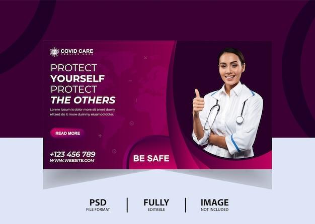 Różowy sztandar sieci zdrowia lekarza