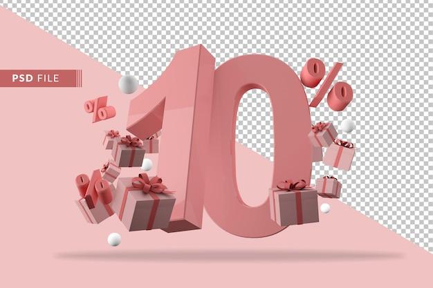 Różowy wyprzedaż 10% rabatu na promocyjne pudełka na prezenty