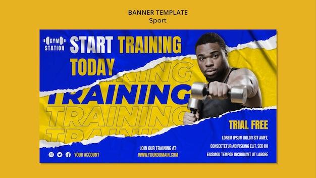 Rozpocznij szkolenie szablon transparentu