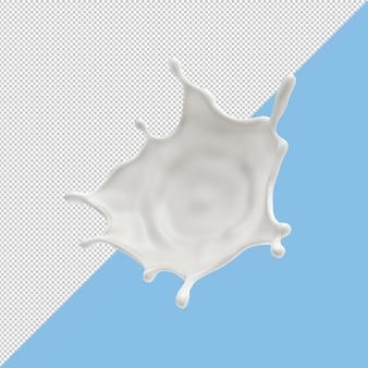 Rozpryski mleka na białym tle