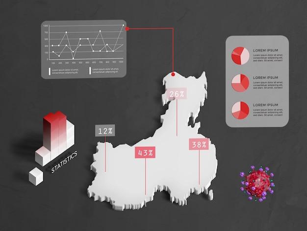 Rozprzestrzenianie się mapy porcelany koronawirusa