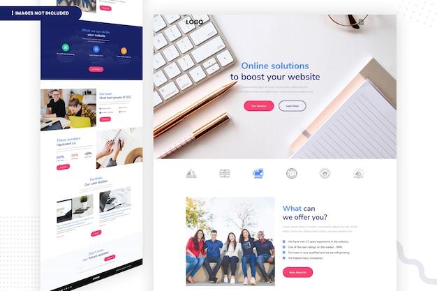 Rozwiązania Online W Celu Zwiększenia Swojej Witryny Premium Psd