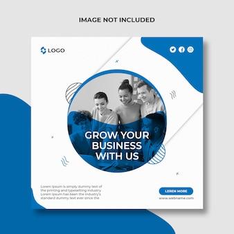 Rozwijaj swój biznesowy post w mediach społecznościowych i szablon banera internetowego