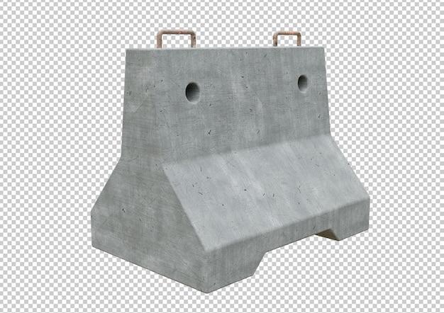 Ruch Z Pojedynczą Barierą Betonową Premium Psd