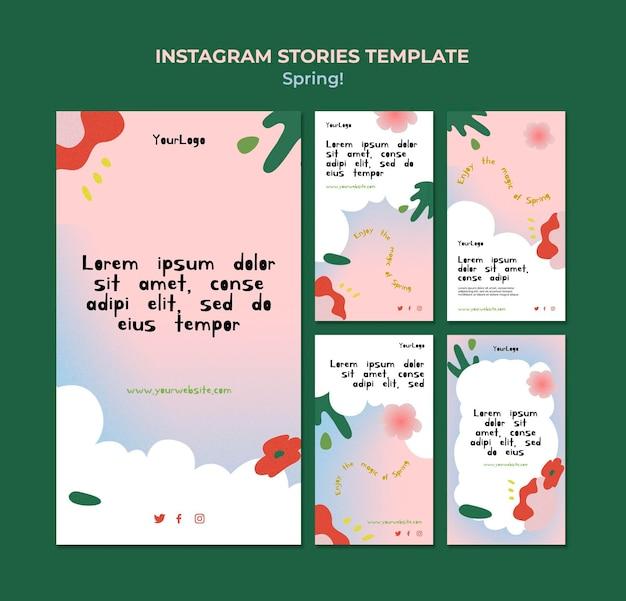 Rysowane wiosenne historie z mediów społecznościowych