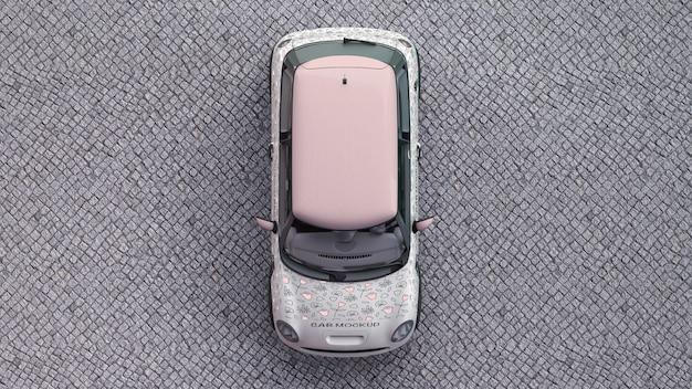 Samochód makieta z góry