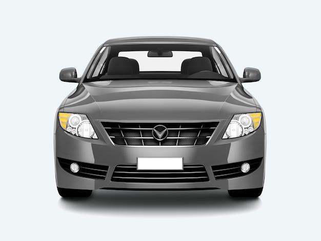 Samochód silver sedan