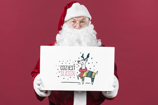 Santa przedstawia makieta zarządu papieru