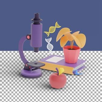 Scena biologii renderowania 3d
