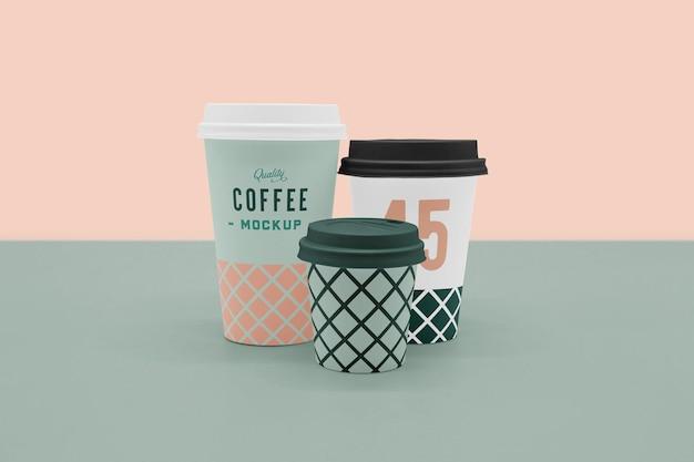 Scena filiżanka kawy makieta